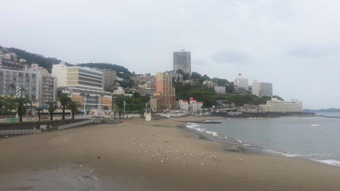 雨あがる熱海サンビーチ。8月22日 16:45PM