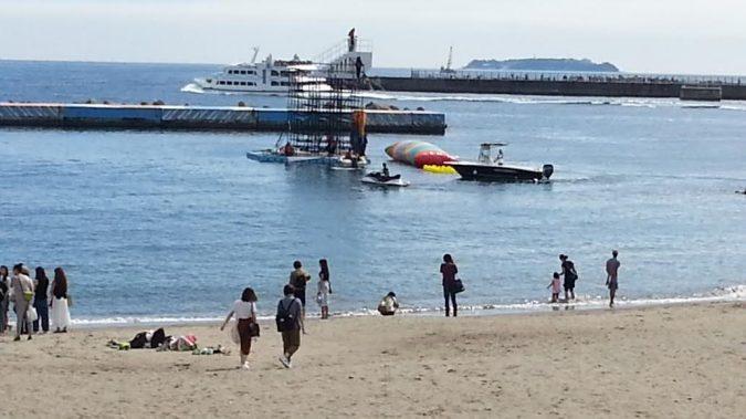 熱海サンビーチでTVロケがありました。
