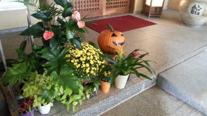 10月19日(水)和風館の玄関も秋の装いです。