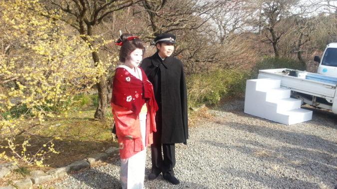 貫一・お宮さんの逢いました。~熱海梅園で~1月28日