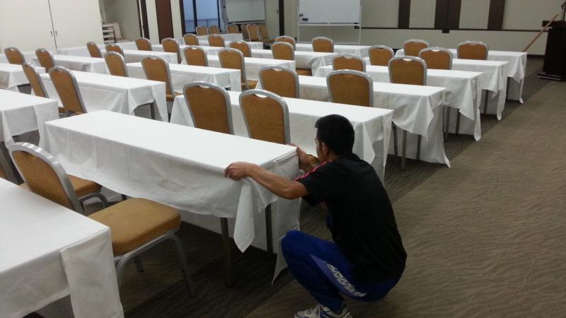熱海で会議・・・・・コンベンションルームの設営は。