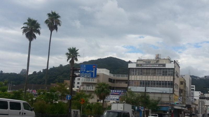 台風一過・・・・青空が見えてきました。(8月9日AM8:30)