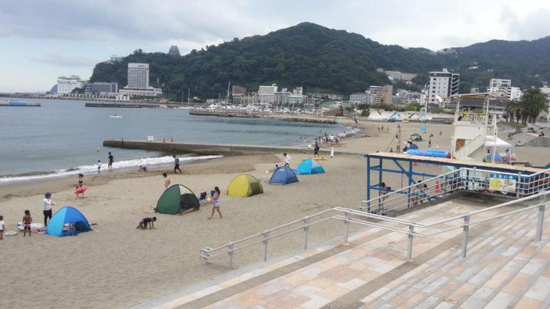 海水浴場(熱海サンビーチ)は、開設は、明日(9月2日)までです。