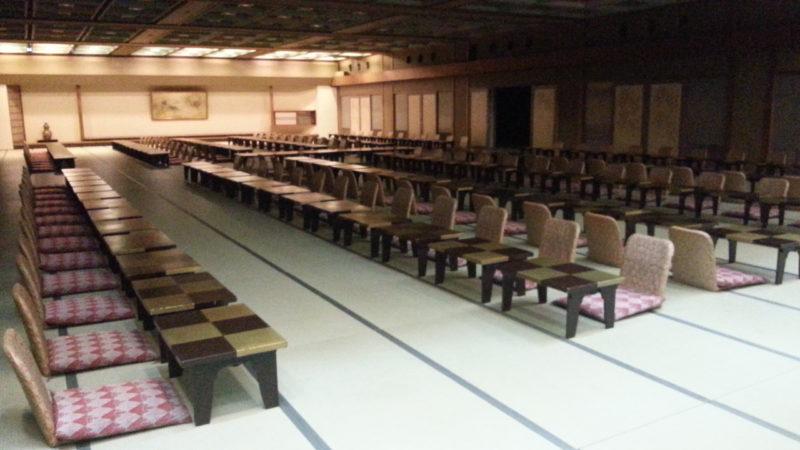 150名の宴会場を作ってもまだまだ余裕が・・・・