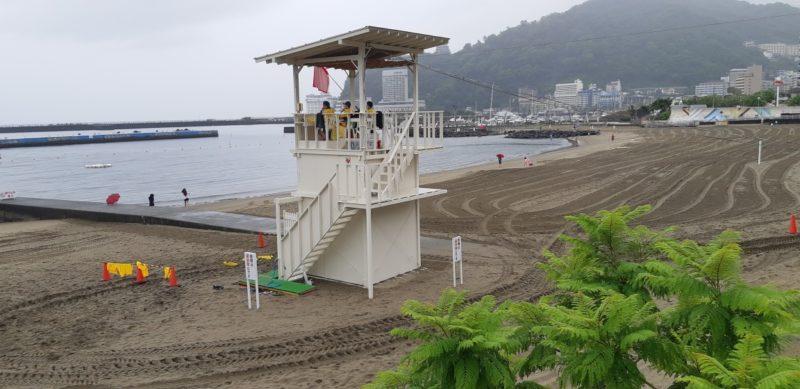 海開きをしましたが・・・・・7月14日AM9:30小雨模様。