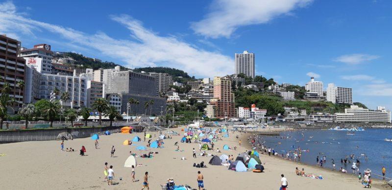 海開き期間は、終了(9月1日)です。~熱海サンビーチ~